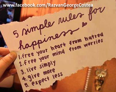 the 5 rules of happiness