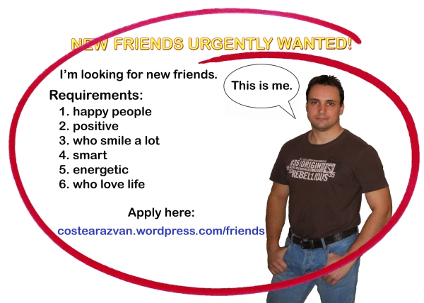 new friends urgently wanted